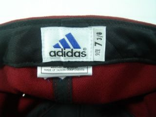 washington redskins adidas fitted cap hat size 7 3 8