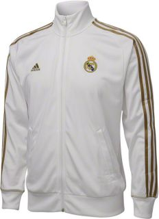 Real Madrid Football Club White Adidas Soccer Core Track Jacket