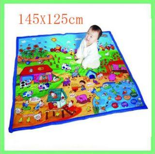 Farm Fiber Baby Kid Activity Play Mat Developmental 145 125cm