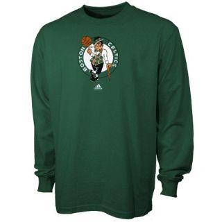 adidas Boston Celtics Green Primary Logo Long Sleeve T shirt