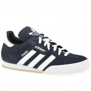 Adidas Originals Samba Super New Mens Navy Blue Suede Trainers UK8