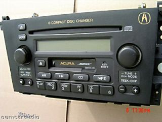 2001 2002 2003 01 02 03 Acura CL Bose Radio CD Changer