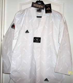 ADIDAS TAEKWONDO WHITE UNIFORM TOP NWT MD IN KOREA COTTON POLY SIZE 3