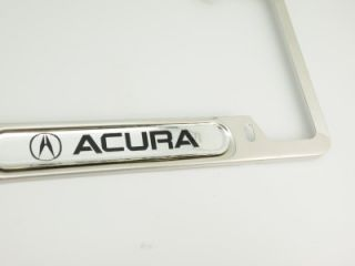 Acura Chrome Stainless Steel License Plate Frame Holder TL RL TSX MDX