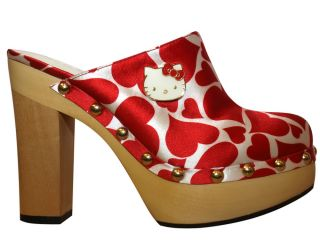 Twenty10 Hello Kitty Adelina Red Heart High Heel Platforms Wooden