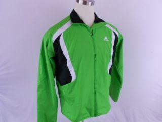 Adidas $55 Adna Rev Mens Medium M Running Track Jacket Top Green Black