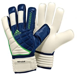 ADIDAS Fingersave Replique Goalkeeper Glove   New Navy / Macaw