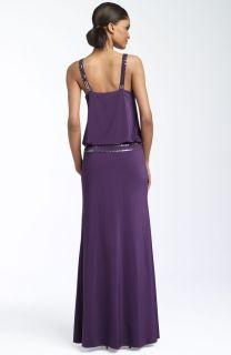 Adrianna Papell Beaded Blouson Gown Sz 8