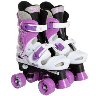 Boys Girls Kids Adjustable 4 Wheel Quad Roller Skates Boots