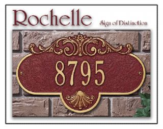 Rochelle Standard Size House Office Address Plaque Sign