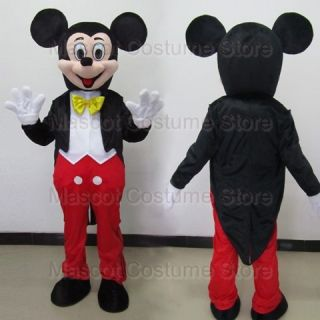 New Mickey Mouse Mascot Costume Adult Size Fancy Dress