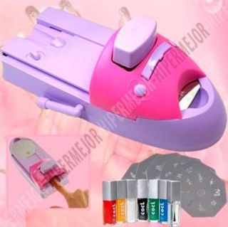 Maquina Para Decoracion Uñas Kit Manicura Belleza Set Plantilla