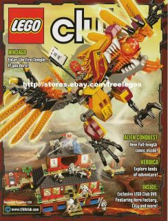 Lego Magazine Ninjago Heroica Hero Factory Alien Quest Nov Dec 2011