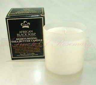 Nubian Heritage Shea Butter Candle African Black Soap