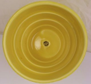 McCoy Pottery Basket Weave Planter African Violet Saucer Yellow 3 7/8