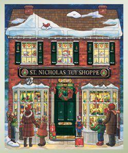 Christmas Toy Shoppe Wooden Christmas Advent Calendar