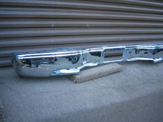 Sierra Chevrolet Silverado Rear Chrome Bumper 2001 2006 Factory