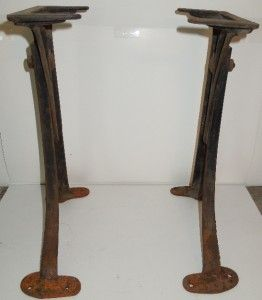 Machine Age Industrial Adjustable Cast Iron Table Base Legs