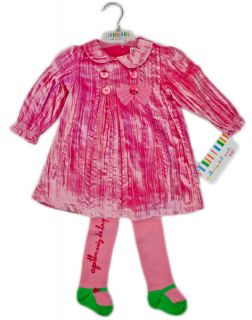 Agatha Ruiz de La Prada Bow Love Set Dress Tights Socks Velvet Baby
