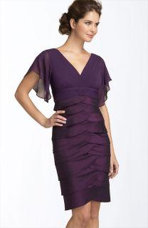 Adrianna Papell Flutter Sleeve Tiered Dress Sz 14 New