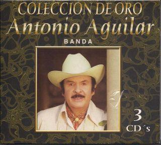 Antonio Aguilar Con Banda Coleccion de Oro CD New 3 Disc Set 30 Songs