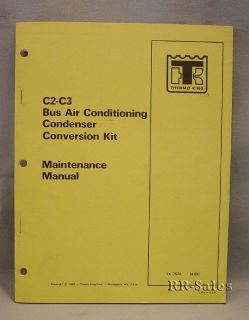 Thermo King C2 C3 Bus Air Conditioning Condenser Manual