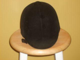 Equestrian Riding Hat Helmet Black International Standard Sz