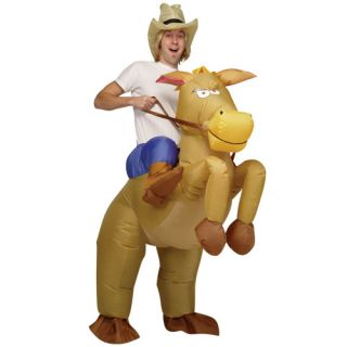 Inflatable Cowboy Horse Riding Costume Suit Fancy Dress Party Hen Stag