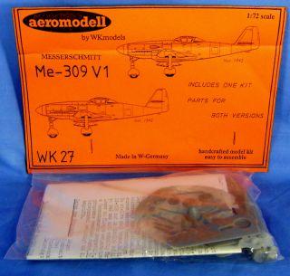 Aeromodell Me 309 V I Epoxy Resin Model Airplane Kit