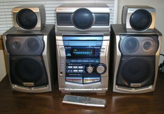 Nice Aiwa NSX HMT35 6 Piece Mini Theater Audio System 5.1 Ch. 160