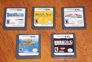 NINTENDO DS GAMES MARIO KART TOUCHMASTER KORG DS 10 AGE OF EMPIRES