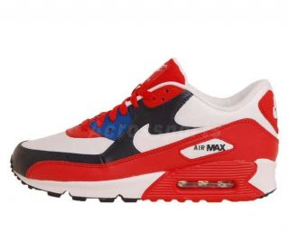 Nike Air Max 90 Sports Red White Obsidian Mens Running Shoes 1 309299