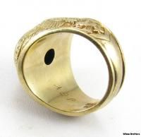 82nd Airborne Division Army Paratrooper Ring 10K Yellow Gold Diamond