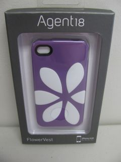 W26 Brand New Agent18 Flowervest Silicone Soft Case for iPhone 4 4S