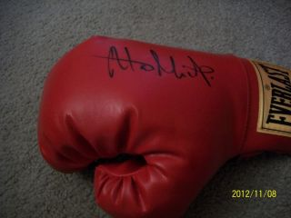 Alan Minter Signed Everlast Glove Boxing Autographed World Champion