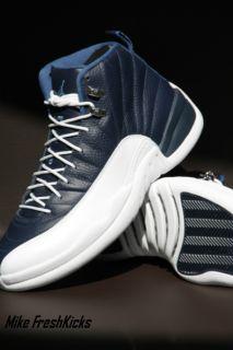 AIR JORDAN 12 XII RETRO OBSIDIAN Nike 100% DEADSTOCK French Blue White
