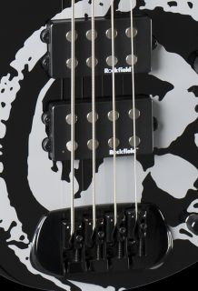 NEW BC RICH JOHN MOYER HAVOC 4 STRING BASS GUITAR BLACK WITH SKULL
