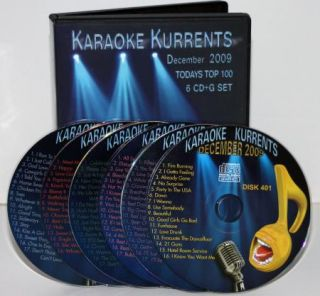 Karaoke Kurrents The Best of DEC2009 CD G Top Pop w Lady Gaga Pitbull