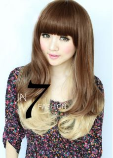 Stunning Stylish Long Blonde Mixed Brown Party Hair Wig