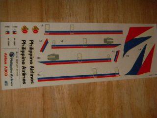 A300 Airbus Philippine Air Model Airplane Decal Sheet