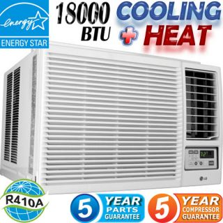 LG 18000 BTU Window Air Conditioner Heater Portable AC w Heat Fan