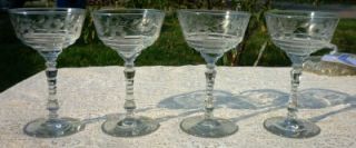 all Libbey Rock Sharpe Halifax Champagne Sherbe Glasses No Chips