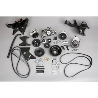 GM Performance Pulley Kit Serpentine Steel Black BBC Long Water Pump