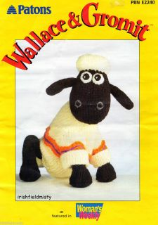 Alan Dart Soft Toy Knitting Pattern Shaun The Sheep Wallace Gromit