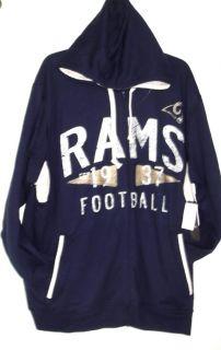 St Louis Rams 2X NFL Retro Legends Full Zip Hoodie Fleece Jacket