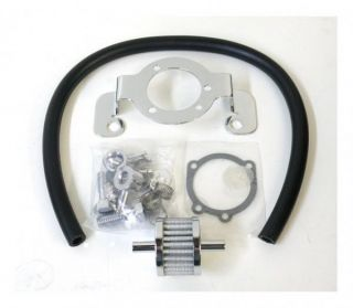 AIR FILTER SUPPORT & CRANKCASE BREATHER KIT FOR HARLEY BIG TWINS 93 UP