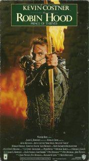 Robin Hood VHS Kevin Costner Alan Rickman