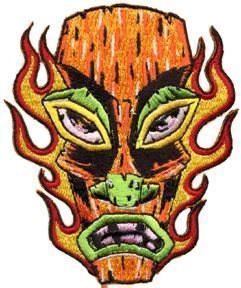 ORANGE TIKI HOTROD KULTURE STICKER VINYL DECAL Art by Alan Forbes