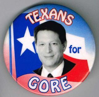 Texans for Al Gore Pin Pinback Button A891
