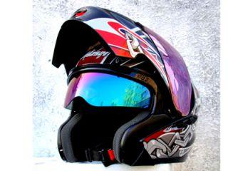 Masei 815 Black Skull Dot Motorcycle Bike Helmet XL XXL